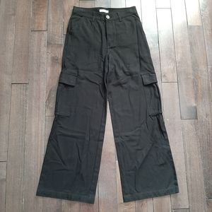 Aritzia Golden by TNA Black Fisher Cargo Pants